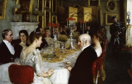 Dinner at Haddo House 1884 by Alfred Edward Emslie