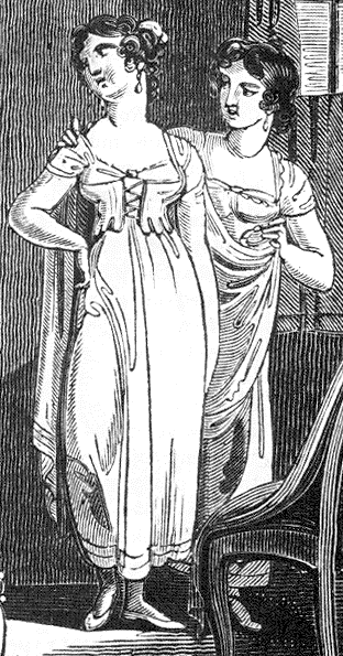 Regency underclothes detail
