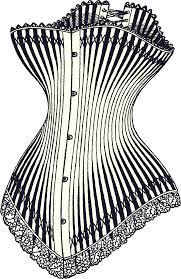 Il tipico corsetto vittoriano