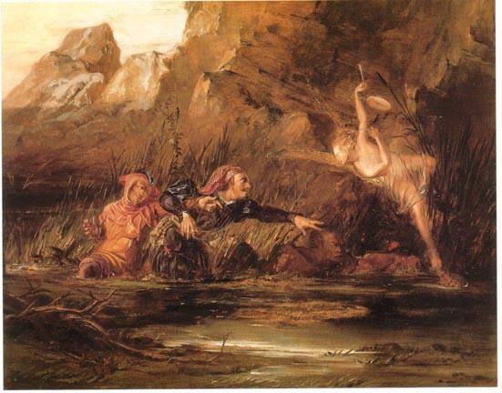 William Bell Scott , Ariel e Calibano