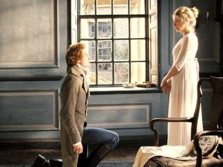 bingley on bended knee to propose to jane