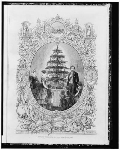 albero di natale vittoriano