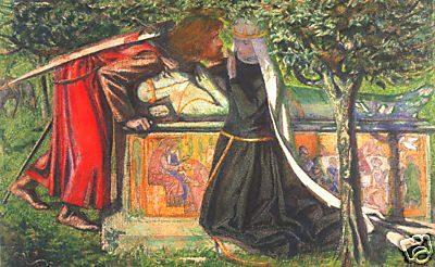 dante gabriel rossetti king arthurs tomb canvas print 24