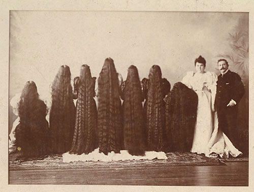 sutherland sisters long hair