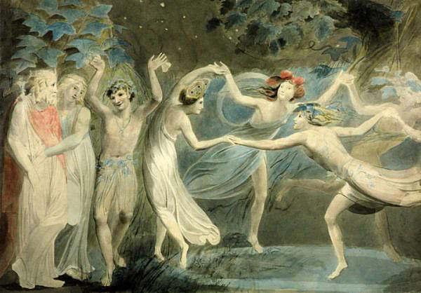 Oberon Titania and Puck with Fairies Dancing. William Blake. c.1786 1024x714