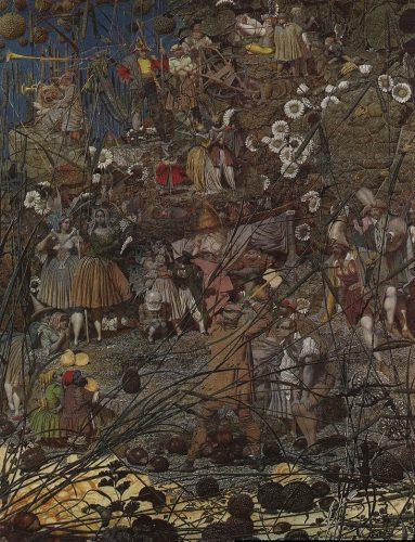 The Mastery Stroke di Fairy Feller , olio su tela, 26 pollici x 21 pollici (1855-64; Tate, Londra).
