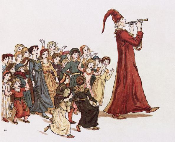 Kate Greenway illustratrice il pifferaio di hamelin
