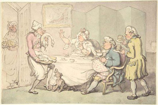 la servitù in epoca regency