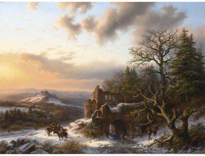 la neve nell'arte del 1800