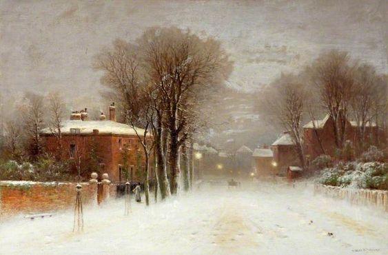 neve nell'arte del 1800